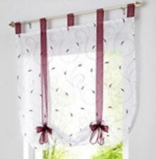 Solid Color New Arrival Fashion Summer Stylish Window Kitchen Curtain