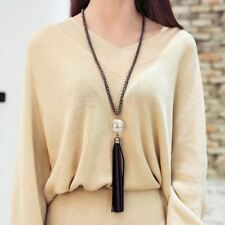 New Arrival Tassel Pendant Sweater Chain Long Beads Necklace Fashion Jewelry Gif