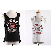 BNWT Elwood Ladies Sleeveless T-Shirt Hooded Tank Crop Top Casual SZ XS- L