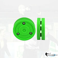 NEW GREEN BISCUIT OFF ICE TRAINIG PUCK ORIGINAL UK STOCK FREE DELIVERY