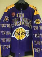 Los Angeles LAKERS 16X NBA Finals Champions Cotton Twill Jacket by G-III