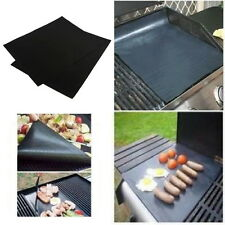 2pcs Reusable Non-stick Surface BBQ Grill Mat Baking Easy Clean Grilling FC