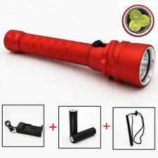 Diving Flashlight 3xXM-L2 4000 Lumens LED Torch Lamp Underwater 100M Scuba Light