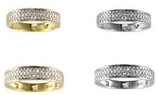 GOLD HIS & HER 14KT SOLID YELLOW /WHITE GOLD CZ WEDDING RING BAND SET SIZE 5-13