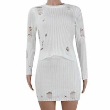 Women Winter Fashion White And Red Color Long Sleeve Two Piece Dress