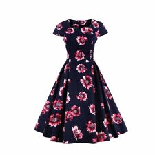 Summer Plus Size Casual Beach Floral Vintage Party Gown Dress For Women