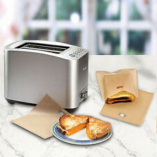 Reusable Toast Bag Baking Pouch Toasty Toastie Pockets Toaster Sandwich Bags 10x