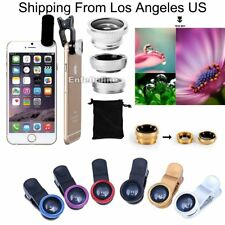 3In1 Small Camera Lens Kit Clip-on Wide Angle Fish Eye Macro180° For Cell Phone