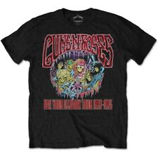 GUNS N' ROSES MEN'S TEE: ILLUSION MONSTER LOGO AXL ROSE SLASH ROCK BLACK T-SHIRT