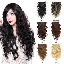"Brazilian Remy Clip In Body Wave Virgin Remy Human Hair Extensions 16"" 7pcs/70g"