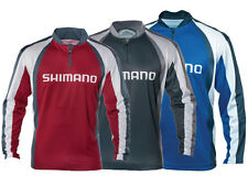 SHIMANO TECHNICAL SUBLIMATED ZIP LONG SLEEVE SHIRT VARIOUS COLOURS