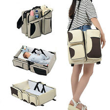 Foldable Baby Bed Travel Bag Portable Bassinet Diaper Crib Nursery Infant 3in1