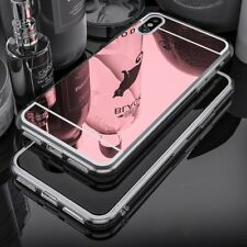 Deluxe Mirror Cover Rubber Clear Bumper Case Cover for iPhone 8/8 Plus/7 Plus/6s