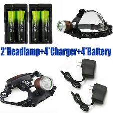 Tactical 20000Lumens LED XM-L T6 LED Headlamp Focus Headlight Lamp 18650+Charger