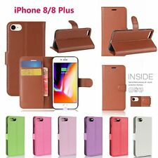 Luxury PU Leather Wallet Filp Credit Card Case Cover For  Apple iPhone 8/8 Plus