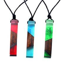 Eyecatching Charm Resin Wood Necklace Handmade Resin Wooden Pendant