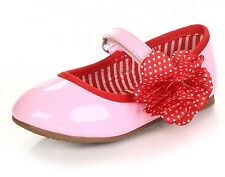 Pink Red Dots Flower Patent Leather Party Shoes Infant Toddler Girls