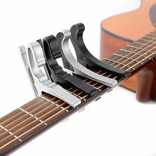 Black Silver Electric&Acoustic Guitar Capo Clamp Quick Trigger Release BDJ-02
