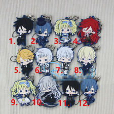 T490 Hot Japan anime Black Butler rubber Keychain Key Ring Rare straps cosplay