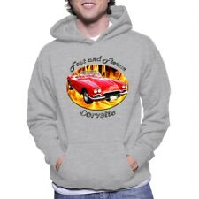 1962 Chevy Corvette Fast And Fierce Adult Hoody