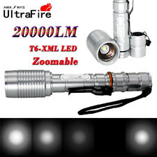 20000LM Zoomable T6 LED Tactical 5-Mode Focus Flashlight Torch Camping Military