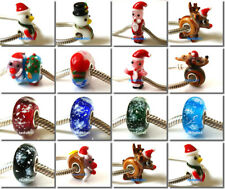 50pcs Wholesale Lampwork Murano Glass Beads Fit European Charm Bracelet NO.15