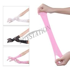 Women Long Elbow Wrist Full Finger Lace Gloves Mittens Wedding Evening Party