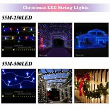55M 250/ 500LED Christmas Tree String Lights Fairy Wedding Party Garden Outdoor
