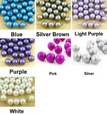20pcs Matte Imitation Pearl Round Druk Spacer Seed Czech Glass Beads 8mm