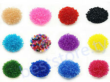 Free Ship 500Pcs 6mm Rondelle Bicone Acrylic Spacer Loose Beads DIY Charms