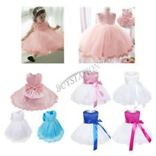 Toddler Baby Flower Girls Princess Bow Dress Wedding Party Pageant Tutu Dresses