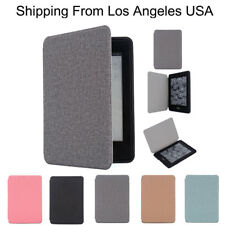 Smart Linen And Coton Leather Skin Case Cover For Amazon Kindle Paperwhite 1/2/3
