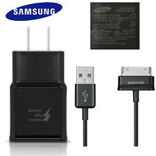 Original Black Samsung Fast Wall Charger+2M 30Pin Cable For Galaxy Tab 10.1 7.7