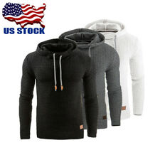 USA Mens Casual Hoody Hooded Pullover Sweatshirt Jumper Sweater Jacket Coat Tops