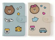 Korea LINE Friends x Monopoly Brown Choco Fashion Cute Passport Case Mascot L528