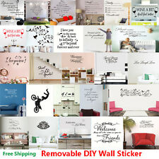 Vinyl Removable Quote Word Poem Art Wall Sticker Decal Mural Home Room DIY Decor