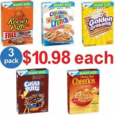 American Cheerios Cereal, Pick One - Giant Size 23.6 - 28.9 oz (Pack of 3 Boxes)