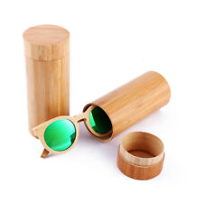 Bamboo Sunglasses Unisex Round Color lens Sun Glasses Men Women Fashion
