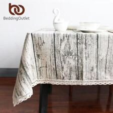 Vintage Wood Grain Table Cloth Simulation Patterned Rustic Tablecloth Rectangle