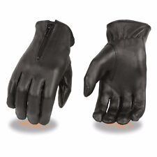 Milwaukee Leather Women's Thermal Lined Leather Gloves W/ Zipper Closure - SH728