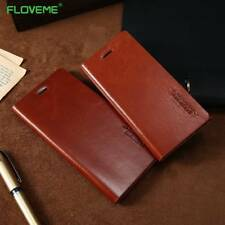 FLOVEME Case For iPhone 6 6S 7 Plus Genuine Leather Wallet Flip Cover Phone Bag