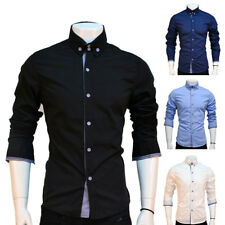 Men Long Sleeve Button Down Shirts Casual Slim Fit Stylish Dress Shirts Tops Tee