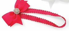 Mud Pie Baby Girl Pretty in Pink Jeweled Bow Soft Hot Pink Headband 355012
