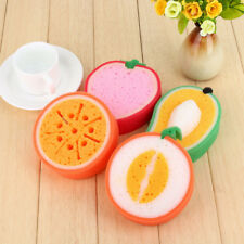 Soft Fruit Dish Washing Cleaning Gadget Sponge Scrubber Scouring Pad Kitchen Too