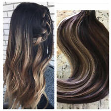 Brazilian Remy Tape in Human Hair Extension Ombre Balyage Skin Weft 40pcs/100g