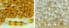 50pcs Crystal Pinch Bicone Faceted Spacer Czech Glass Beads 7mm