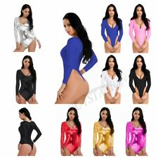 Women's Lingerie Bodysuit High Cut Leotard Thong Swimwear Dance Costume Jumpsuit