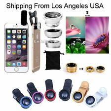 Small Camera Lens Kit+Clip-on Wide+Angle Fish Eye Macro180° For Cell Phone