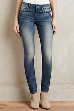 NWT - ANTHROPOLOGIE - MOTHER Looker Skinny Jeans sz 25/26 (Double Trouble) $205