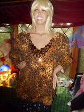 NWT WOMAN'S SIZE 3X SPARKLY ANIMAL PRINT TOP BY RUBY RED WOMAN FREE SHIPPING